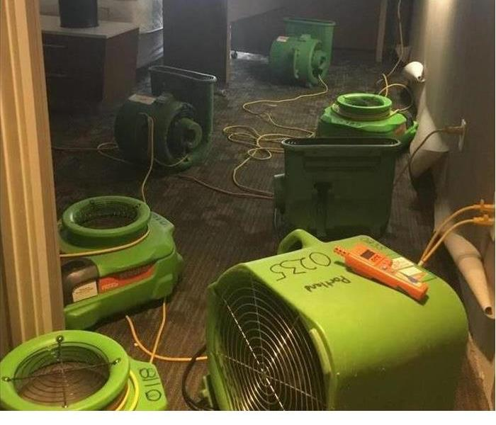An air mover in a hotel